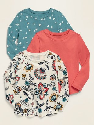 Old Navy 3-Pack Long-Sleeve Scoop-Neck Tee for Toddler Girls