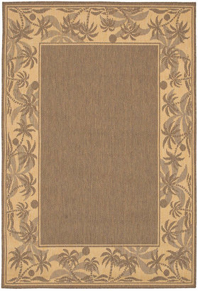 "Couristan Area Rug, Recife Indoor/Outdoor 1222/0722 Island Retreat Beige-Natural 3' 9"" x 5' 5"""