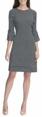 Tommy Hilfiger Polka Dot Bell-Sleeve A-Line Dress