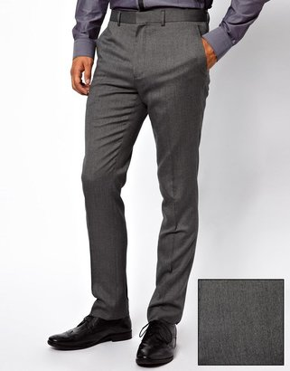French Connection Slim Fit Pindot Suit Pant
