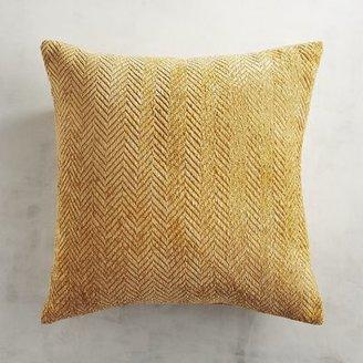 Herringbone Chenille Gold Pillow