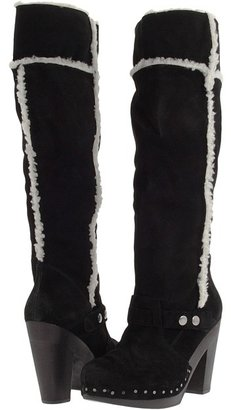 Nine West Keego (Black/White Suede) - Footwear