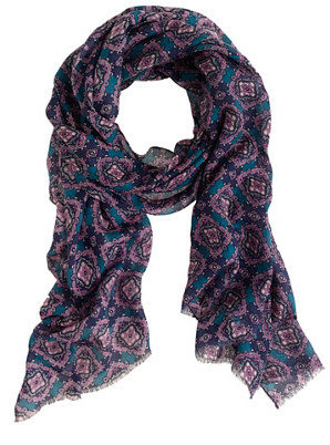 J.Crew Medallion paisley scarf