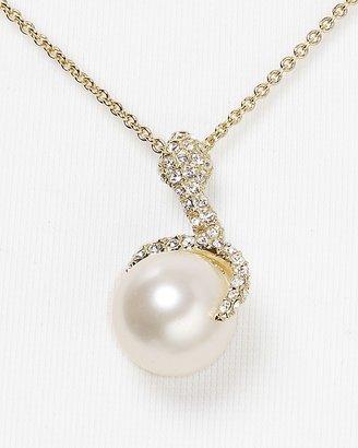 """Nadri Pave Snake Pendant Necklace, 16"""""""