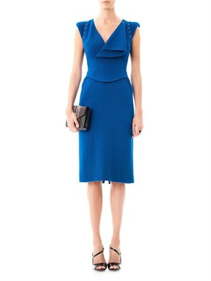 Antonio Berardi Wrap front wool dress