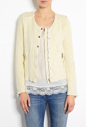 IRO Regan Lemon Distressed Jacket