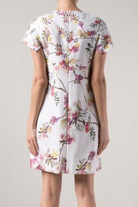 Giambattista Valli Short Sleeve Floral Dress