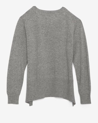 Mason by Michelle Mason Front Leather Panel Sweater