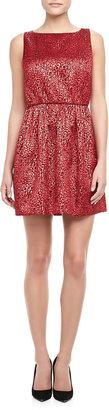 Alice + Olivia Vita Metallic Jacquard Dress