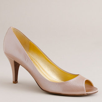 J.Crew Joley pearlized-patent peep toes