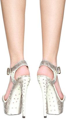 Rachel Zoe Footwear Valerie Sandal in Beige Snake