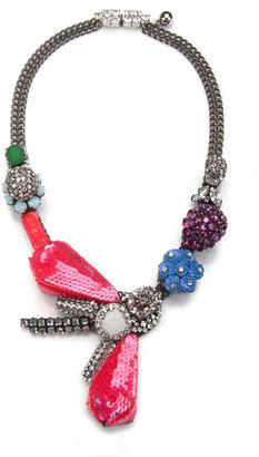 Shourouk Funky Art Deco Necklace