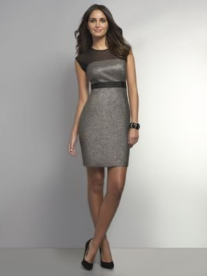 New York & Co. Shimmery & Sheer Sheath Dress