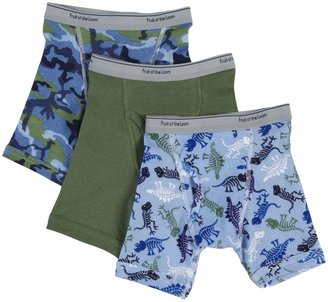 Fruit of the Loom Brief, Toddler Prints And Solids 3 pk-Multicolor-2T/3T