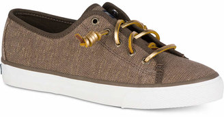 Sperry Women's Seacoast Canvas Sneakers Women's Shoes $60 thestylecure.com