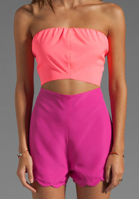 Naven Neon Collection Scalloped Cutout Playsuit