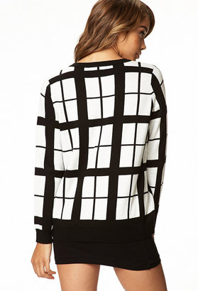 Forever 21 Window Pane Sweater