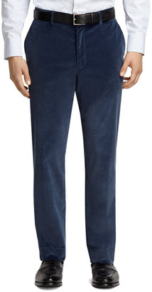 Brooks Brothers Plain-Front Blue Corduroy Trousers