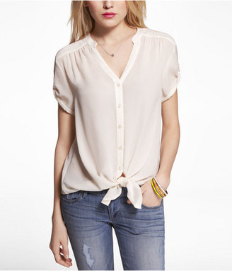 Express Tie-Front Tunic