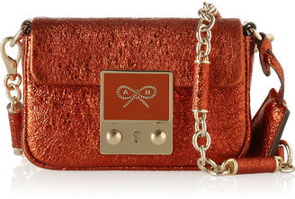 Anya Hindmarch Tiny Tim metallic leather shoulder bag