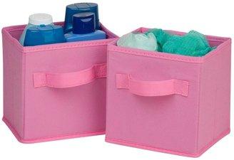 Honey-Can-Do 2pk Mini Woven Foldable Cube - Pink