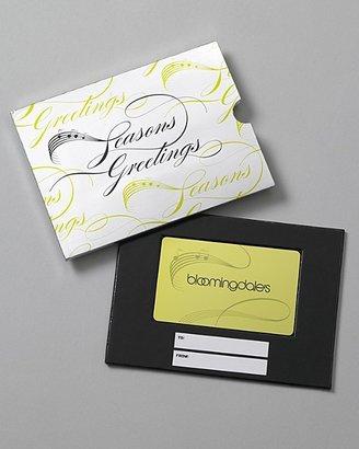 Bloomingdale's Bloomie's Seasons Greetings Gift Card with Box