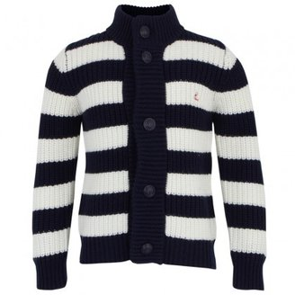 Petit Bateau Stripe Chunky Knit Cardigan