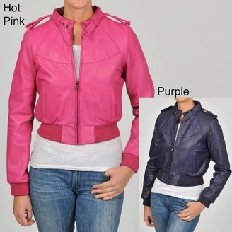 Knoles & Carter Women's Plus Size Members Only Bomber Leather Jacket $49.99 thestylecure.com