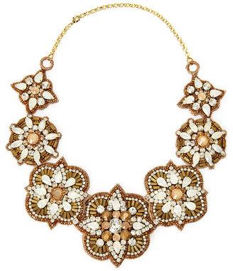 Deepa Gurnani Gold-Tone & Blush Choker Necklace