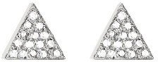 Jennifer Meyer Diamond Triangle Studs - White Gold