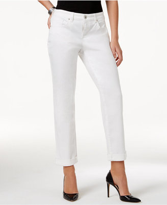 Style & Co Curvy-Fit Cuffed Boyfriend Jeans, Only at Macy's $49 thestylecure.com