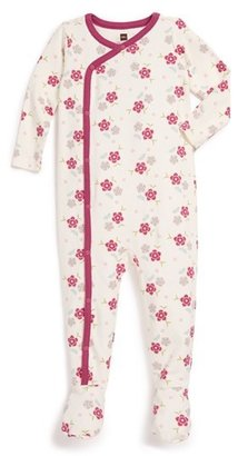 Tea Collection 'Zahra' Floral Footie (Baby Girls)