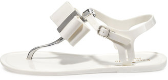 Kate Spade Filo Bow Jelly Thong Sandal, Cream