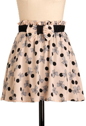 Bow-lka Dotted Skirt