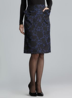 Marc by Marc Jacobs Prussian Blue Two Pocket Floral Skirt