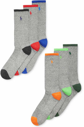 Polo Ralph Lauren Men Athletic Celebrity Crew Socks 6-Pack
