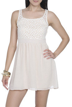 Wet Seal WetSeal Daisy Lace 2fer Dress Natural