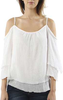 Arden B Cold Shoulder Peasant Top