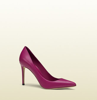 Gucci Leather Pointed Toe Pump