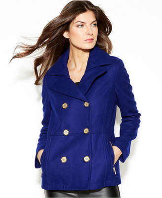 Kenneth Cole Reaction Notched-Collar Double-Breasted Pea Coat