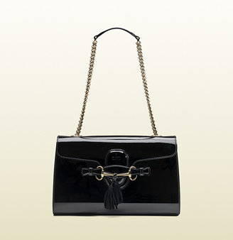 Gucci Emily Patent Leather Chain Shoulder Bag