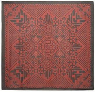 Alexander McQueen Patchwork Print Silk Chiffon Scarf