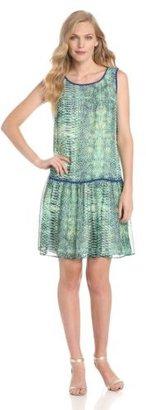 Amy Byer Women's Printed Chiffon Dress