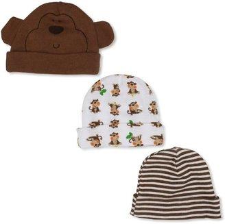 Gerber Baby-Boys Monkey 3 Pack Cap