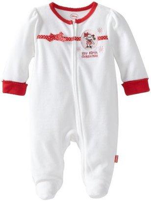 Disney Baby-Girls Newborn Minnie Mouse My First Christmas Romper