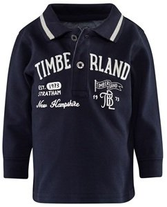 Timberland Kids Navy Branded Pique Polo