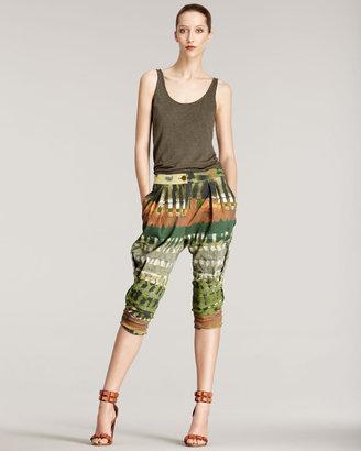 Donna Karan Printed Harem Pants