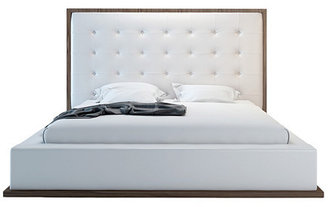 Ludlow Bed, Walnut/White