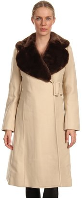 Kate Spade Briella Coat (Flat Iron Beige/Coffee) - Apparel