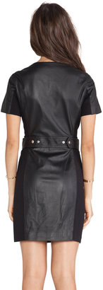 Rachel Zoe Auburn Leather Dress